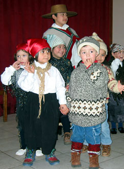 In Chilean Patagonia youngsters demonstate traditional dances.